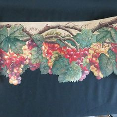 Tuscan Tuscany Fruits Grape Apple Pear Cherry Vine Sculptured Wall paper Border