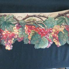 Gramercy Wallpaper Border Burgundy Tan Garden Flower Fruit Lot of 3