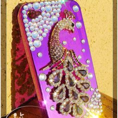Peacock bling iPhone case ^_^