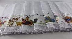 Resultado de imagem para barrados de pano de prato com  bordado ingles