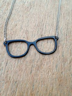 Geek Chic Necklace  Black Frame Glasses by MeaningfulRandomness, $20.00