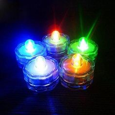 NewChic - NewChic 12Pcs Waterproof Flameless Electronic Colorful Wedding Chirstmas Decoration Vase Candle Lights - AdoreWe.com