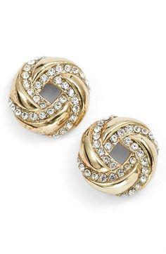 Women's Judith Jack 'Rings & Things' Stud Earrings - Gold/ Silver/ Crystal