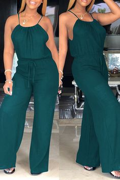 Lovely Euramerican Loose Green One-piece Jumpsuit Wholesale Clothing Online Store. We Offer Top Good Quality Cheap Clothes For Women And Men Clothing Wholesaler, # Mode Kimono, Summer Outfits, Casual Outfits, Cool Outfits, Green One Piece, Casual Jumpsuit, Jumper Outfit Jumpsuits, Wholesale Clothing, Wholesale Shoes