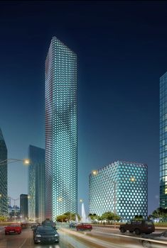 A CAD rendering of the Sinosteel Tower, Tianjin, China