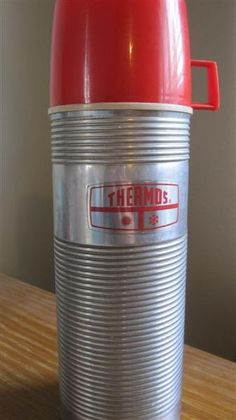 "The tougher the better. How many kids' lunchbox thermoses survived the wear and tear of daily dropping? Here's a nice, heavy duty Vintage Thermos from ""the day""."