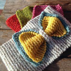 Crochet Headband Free, Knitted Headband, Knitted Hats, Knitting For Kids, Baby Knitting Patterns, Loom Knitting, Crochet Hair Accessories, Knit Or Crochet, Crochet Hats