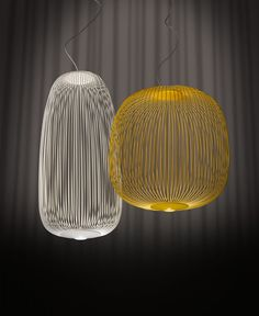 The stylish Spokes 2 LED Suspension Lamp was created by Garcia Cumini for notable Italian design company Foscarini.Foscarini has been creating beautiful lightin Cool Lighting, Modern Lighting, Lighting Design, Pendant Lighting, Chandelier, Lighting Stores, Pendant Lamps, Industrial Lighting, Italian Lighting