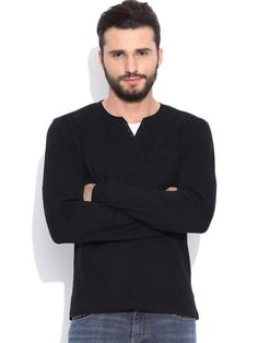 Dream of Glory Inc. Black Henley T-shirt