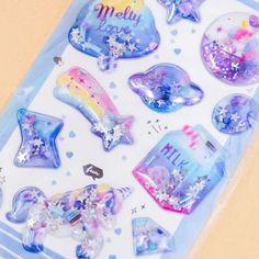 Unicorn Galaxy Puffy Stickers Kawaii Gifts, Teddy Bear Toys, Cute School Supplies, Pretty Notes, Sticker Bomb, Kawaii Stationery, Kawaii Shop, Welcome Gifts, Cute Unicorn