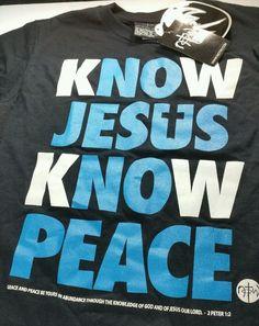 Not Of This World T-Shirt NOTW Know Jesus Know Peace No Jesus No Peace Men's SS #Optima #BasicTee