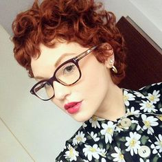 red curly pixie:
