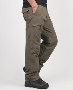 8ce0c8a9b677 Double Layer Thick Men Cargo Pants