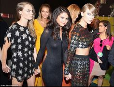Selena Gomez in a very hot dress w/ Taylor Swift