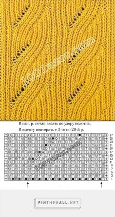Brioche cable. Site in Russian with many knitting patterns and charts (categories Irish/Aran, Lace, Brioche, etc)