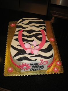 Hawaiian Flip Flop Cake Carved from a half sheet pan. Decorated with buttercream and fondant/gumpaste accents. This cake is special to me. Hawaiian Birthday, Luau Birthday, 10th Birthday Parties, Birthday Ideas, Zebra Birthday, Minnie Birthday, Birthday Stuff, Husband Birthday, Cake Birthday