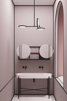 Parisian Apartment by Crosby Studios Amazing apartment interior design Apartment Interior Design, Bathroom Interior Design, Decor Interior Design, Interior Decorating, Lobby Interior, Decorating Ideas, Bad Inspiration, Bathroom Inspiration, Interior Design Inspiration