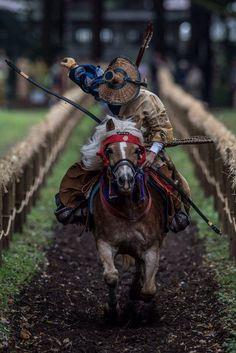 """jkfukufan: """"Yabusame - mounted archery (Japan). """""""
