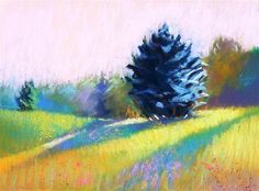 "Daily Paintworks - ""Meadow light change"" - Original Fine Art for Sale - © Celine K.  Yong"