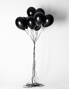 Black balloons #birthday #party