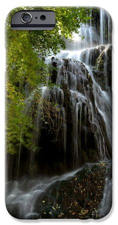 Trinity Waterfall In Monasterio De Piedra Park iPhone 6 and Samsung cases. By RicardMN Photography