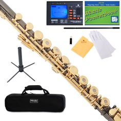 awesome Mendini C Flute Black Nickel Plated 17 Key Open Hole, B Foot+Tuner+Stand+Case Check more at https://aeoffers.com/product/music-and-instruments/mendini-c-flute-black-nickel-plated-17-key-open-hole-b-foottunerstandcase/