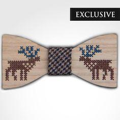 Deer Wooden Bow Tie