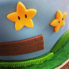 Bolos em Pasta Americana  Gabriela Lemos Cakes: Bolo Mario Bros - Estrelas - Stars