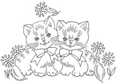 two kittens 2 by love to sew, via Flickr