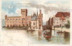 Berlin-Mitte, Mühlendamm (älteste Verbindung zwischen den mittelalterlichen Stadtteilen Berlin und Cölln). um 1900