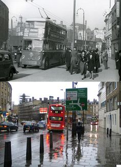233-King's Cross, Gray's Inn Road, 1938 and 2012 by Warsaw1948, via Flickr