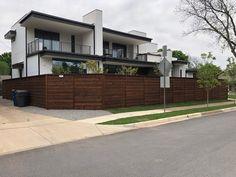 Building A Fence, Horizontal Fence, Cedar Fence, Garage Doors, Sidewalk, Outdoor Decor, Modern, Home Decor, Trendy Tree