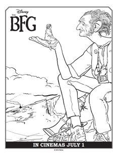 Free Disney's The BFG coloring pages, activities, and more!