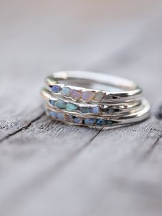 Opal is the October birthstone. Unique, multi-coloured gems that are never boring. Meet She's a vibrant thing. Flashes of colour, dripping with that zest for li