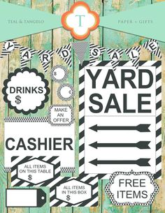 Items similar to Yard Sale Printables on Etsy Crafts To Sell, Selling Crafts, Tiny Studio, Side Garden, Yard Games, Small Gardens, Solar Lights, Pick One, Paper Gifts