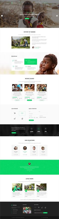 Samara is a wonderful #PSD template for #charity and #nonprofit organizations website with 3 homepage layouts and 18+ organized PSD pages website download now➩ https://themeforest.net/item/samara-charity-psd-template/19428750?ref=Datasata
