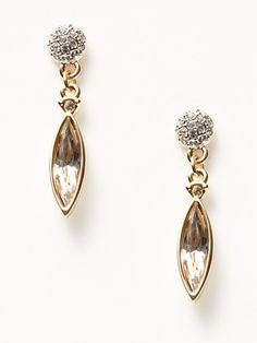 Navette Drop Earrings