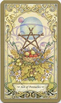 Mystic Faerie Tarot--Ace of Pentacles