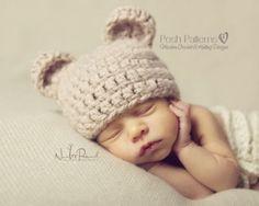 Crochet Pattern Teddy Bear Beanie Hat