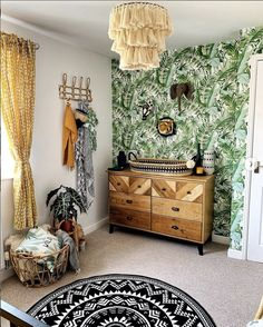 Nursery by it comes to decorating a baby room we often think what will my baby enjoy living in? What decor will be relaxing for good sleep and Bedroom Themes, Nursery Themes, Nursery Room, Kids Bedroom, Nursery Decor, Nursery Ideas, Bedroom Wall, Girl Nursery, Jungle Theme Nursery