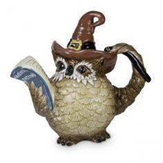 Wizard owl tea pot