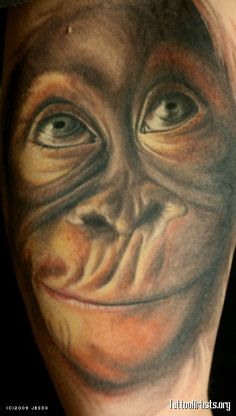 Realistic Monkey Tattoo Monkey. 397 x 700 px (120 kb)