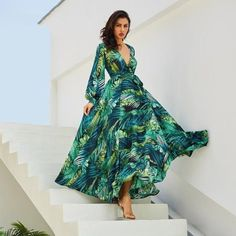 """ea85fee1416 """"Be a vision of loveliness when you are wearing this long sleeve floral  print maxi"""