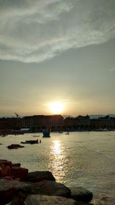 Por do sol,Genebra