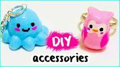 DIY JEWELRY ❤ cornstarch clay ACCESSORIES from scratch!! - YouTube