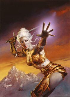 Fantasy art prints by Boris Vallejo and Julie Bell Fantasy Girl, Fantasy Kunst, Fantasy Warrior, Fantasy Women, Sci Fi Fantasy, Dark Fantasy, Fantasy Heroes, Julie Bell, Boris Vallejo