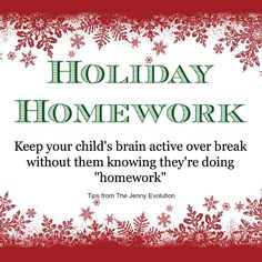 Give Your Kids Holiday Homework Without Them Knowing | The Jenny Evolution