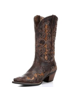 <p>The Women's Dandy boot features a full-grain leather foot and shaft. The six-row stitch pattern and the eye-catching underlays add an edgy style. While the ATS comfort system and the sturdy Duratread outsole make this boot durable enough for work or play.</p>