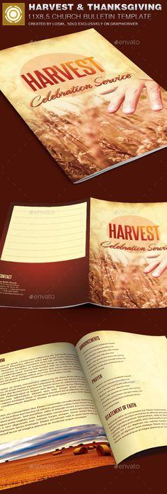 Church Fall and Harvest Festival Template Fontes, Festivais e - church bulletin template