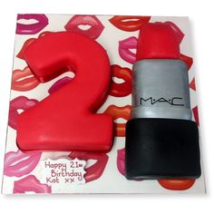 Ok can I have this for my birthday cake? (: #21st #Birthday Lipstick #Cake
